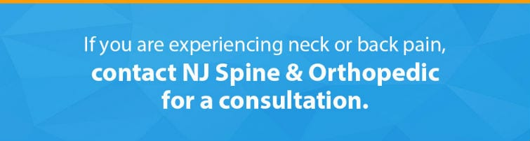 contact NJ Spine & Orthopedic for consultation