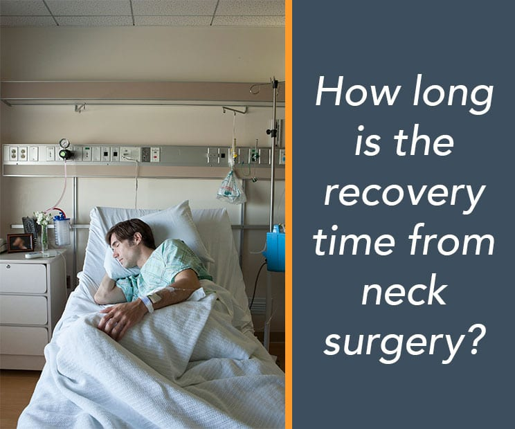 man recovering from neck surgery