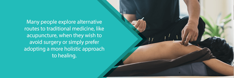 alternative therapies for back pain - acupuncture