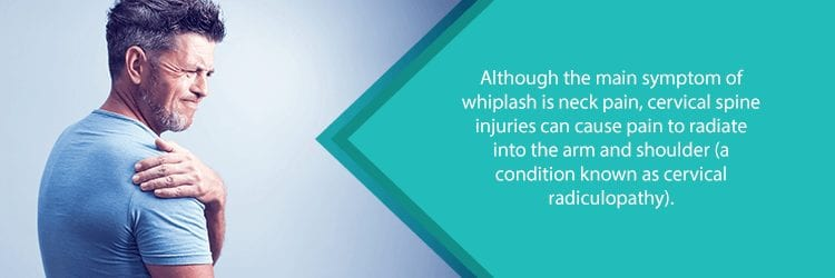 cervical radiculopathy and shoulder pain from whiplash injury