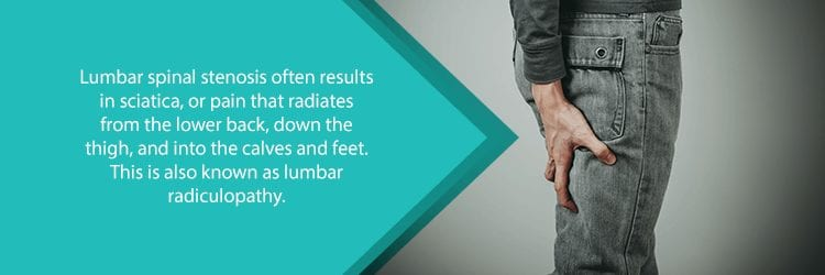 sciatica from lumbar spinal stenosis